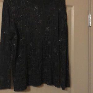 Donna Toran holiday black sparkling pattern dress